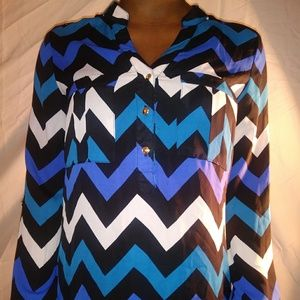 Charlotte Russe Printed Blouse***Size SMALL
